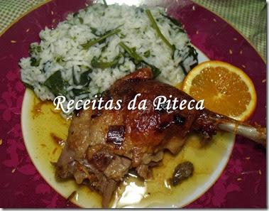 Pato assado com laranja e arroz de grelos Bom Sucesso-empratado
