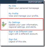 Click on My Settings to access Regional Settings