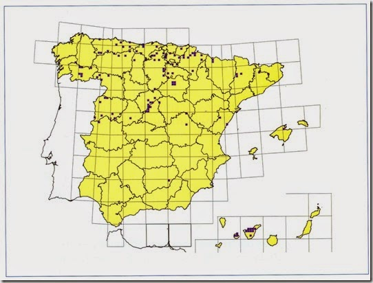 Barbastella barbastellus mapa