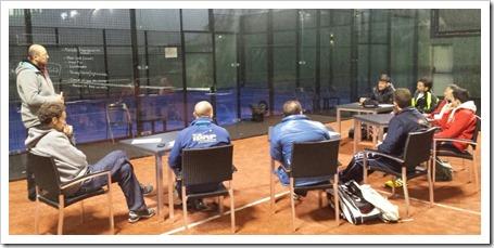 En la imagen Hugo Cases con los diferentes técnicos invitados. Club Get Indoor Getafe, Madrid.