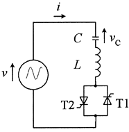 Circuit for analysis of practical capacitor switching