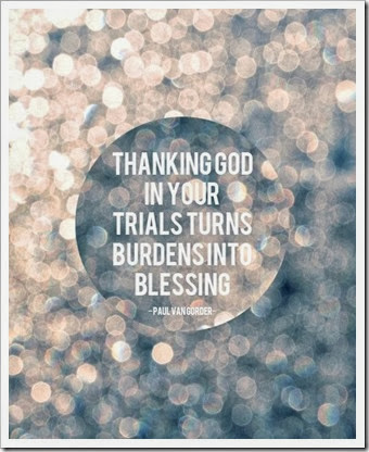 Thanking God for trials