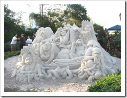 Florida vacation Epcot sand sculpture