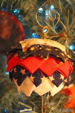 Fabric folded ornament