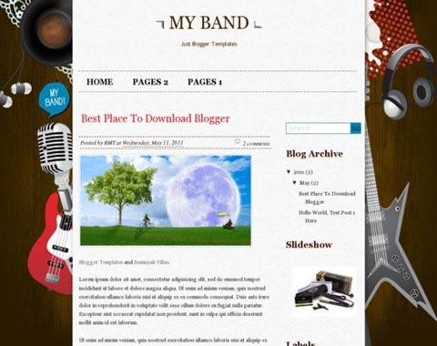 My Band Blogger Template