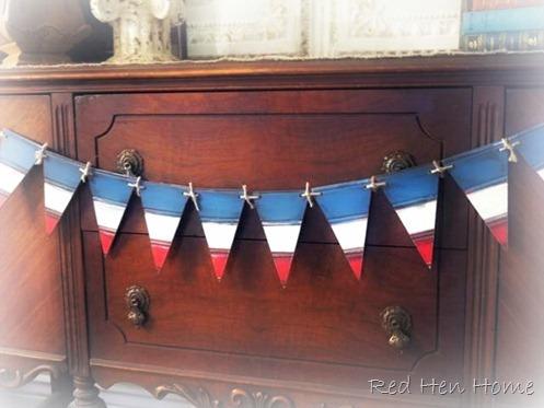 beadboard bunting  patriotic