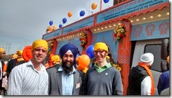 Josh, Rob at Vaisakhi
