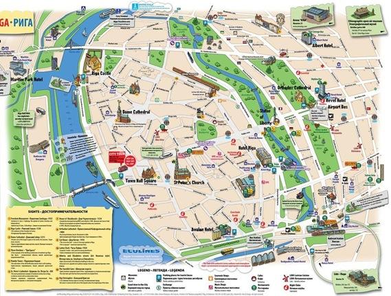 Riga_Tourist_Map