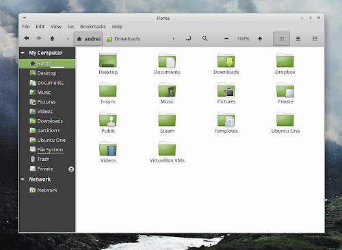 Linux Mint 15 - Nemo 1.8