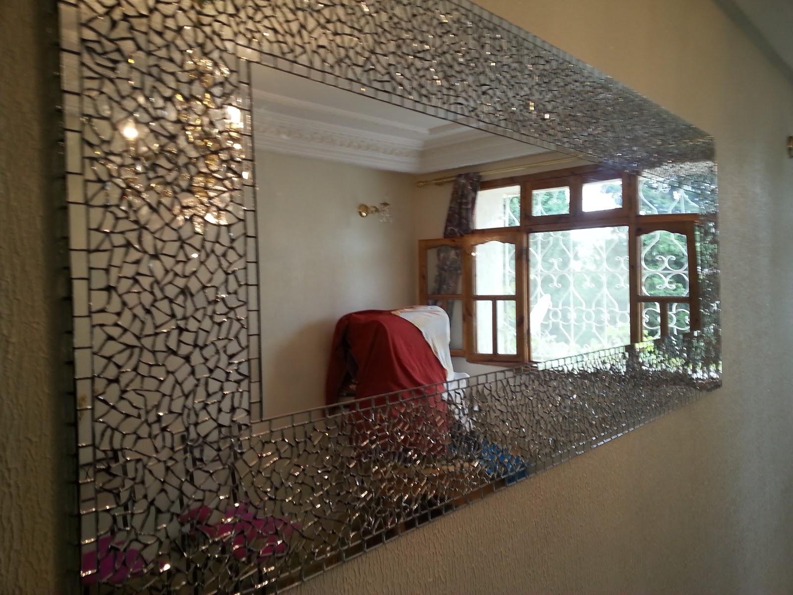 Cr ation d coration miroir style mosa que et autre for Miroir mosaique design