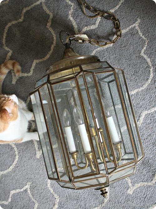 painting brass light