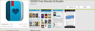 50000 Free ebooks & reader