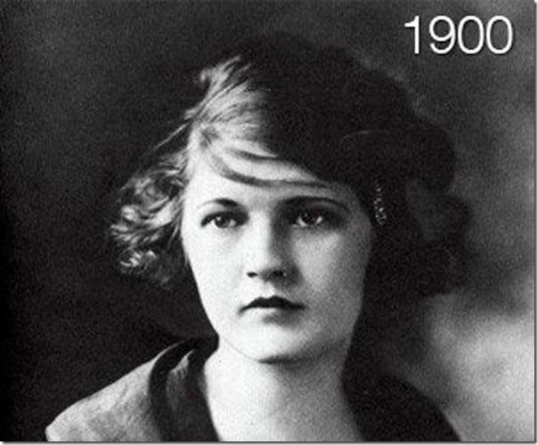 A evolução do cabelo das mulheres (1)