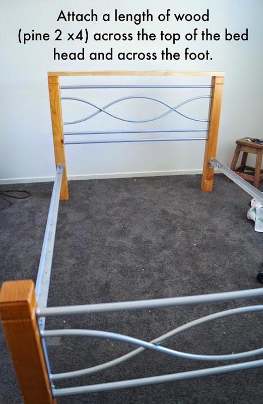 Bed Makeover Step 1