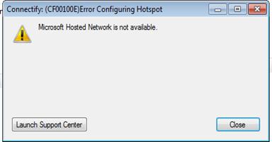 แก้ปัญหา  Error ว่า  Connectify CF00100E