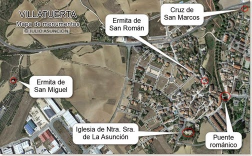 Villatuerta - Mapa de monumentos