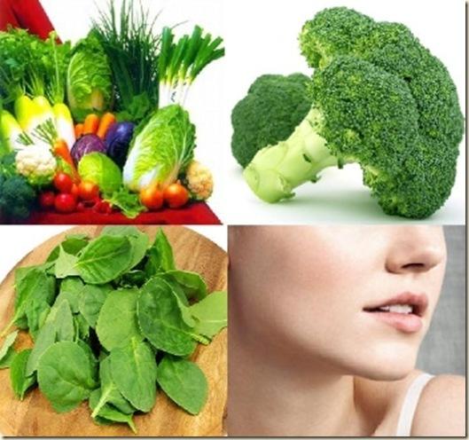 espinacas y el brócoli