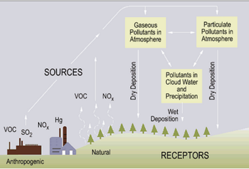 proses terjadinya hujan asam