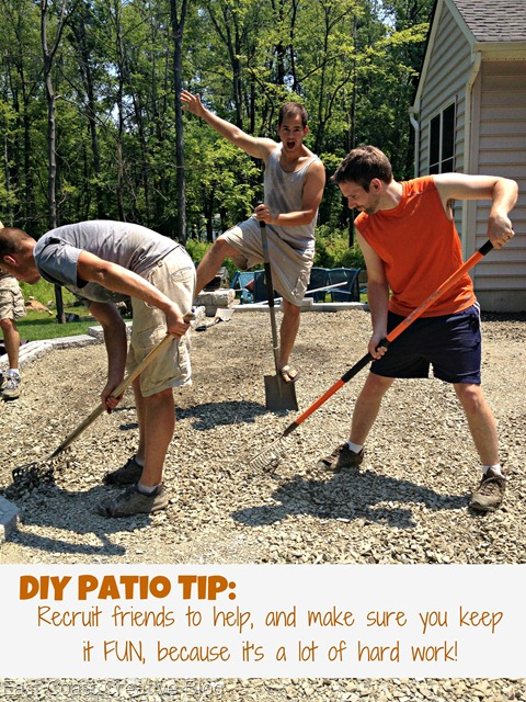 How to install a patio 2