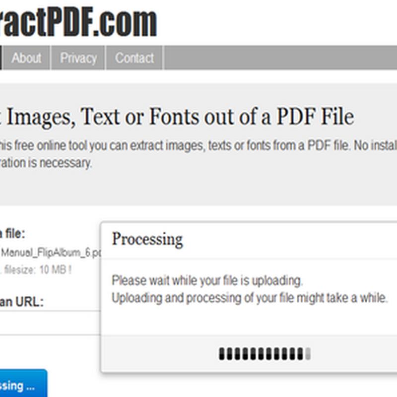 แตกไฟล์รูปภาพจากเอกสาร PDF แบบออนไลน์ง่ายและฟรี