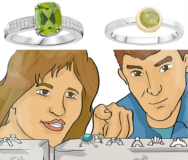 Online Buying Peridot Rings