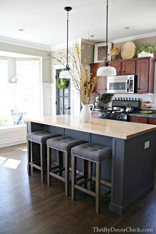 DIY extending kitchen island