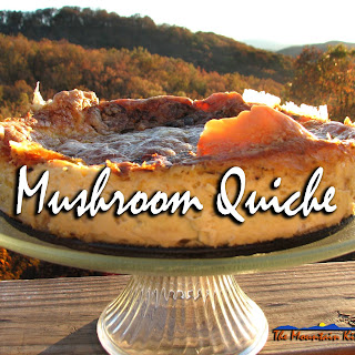 Meatless Monday ~ Lessons Learned From A Hidden Crust Mushroom Quiche