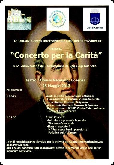 locandina Concerto Beneficenza