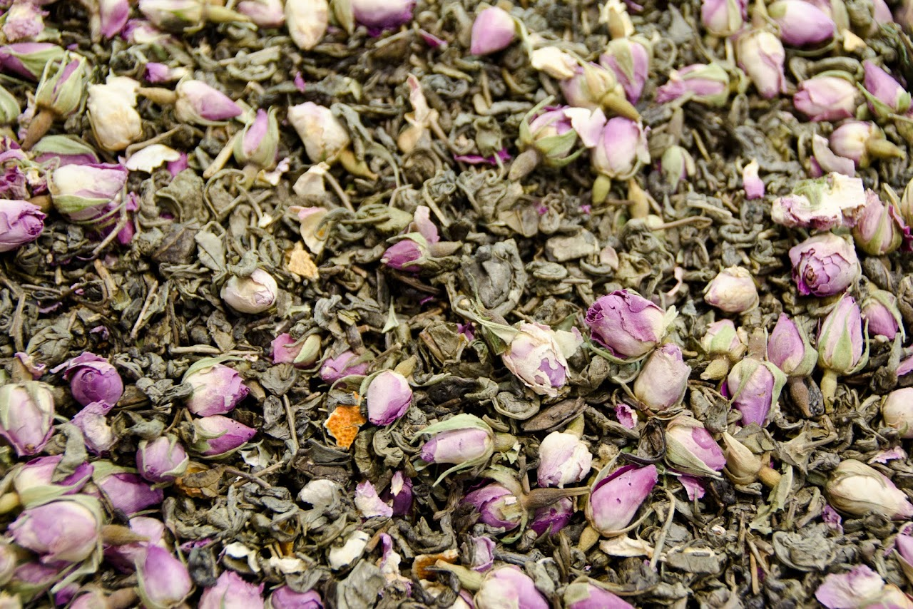 Rose tea at the Spice Bazaar