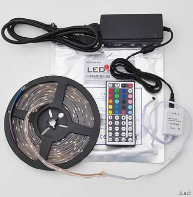 LEDwholesalers IP66 Waterproof 16.4 Ft RGB Color Changing Kit with LED Flexible Strip 44 Button Controller and Power Supply  2038RGB 3315 3215   Amazon.com