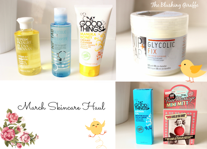 March skincare haul una brennan nip   fab goodthings glycolic fix serum soap and glory