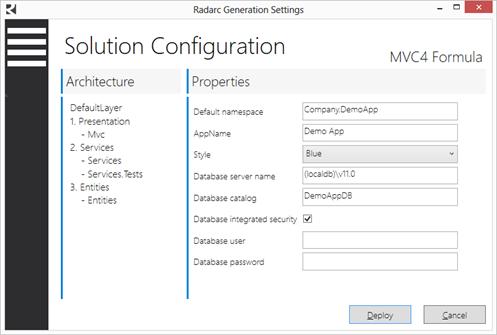 Configuración de la solución