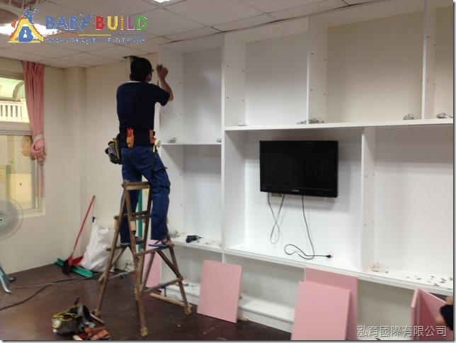 教室白板櫃施工