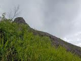 Looking toward the cliffs and summit of Bukit Jempol (Bukit Serelo) (Dan Quinn, November 2013)