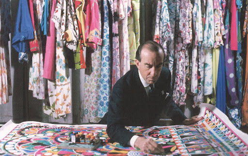 The master at work in Palazzo Pucci in 1959.