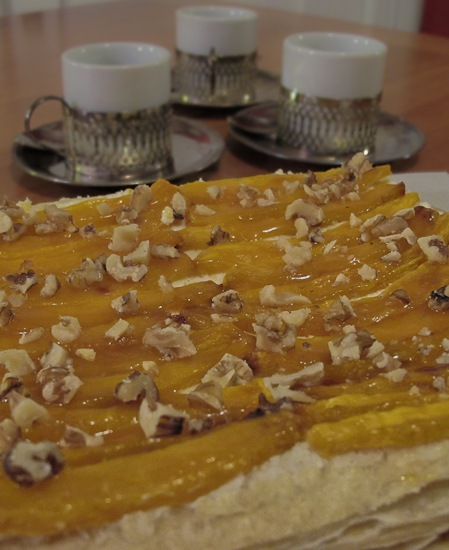 Roasted Pumpkin Mascarpone Pastry Strip