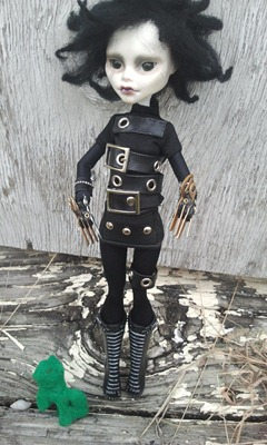 Monster High Edward Scissorhands by Ira Ska via Etsy