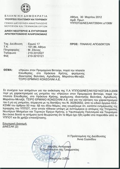 ακύρωση Αναπομπής, 30 Μάρτη 2012