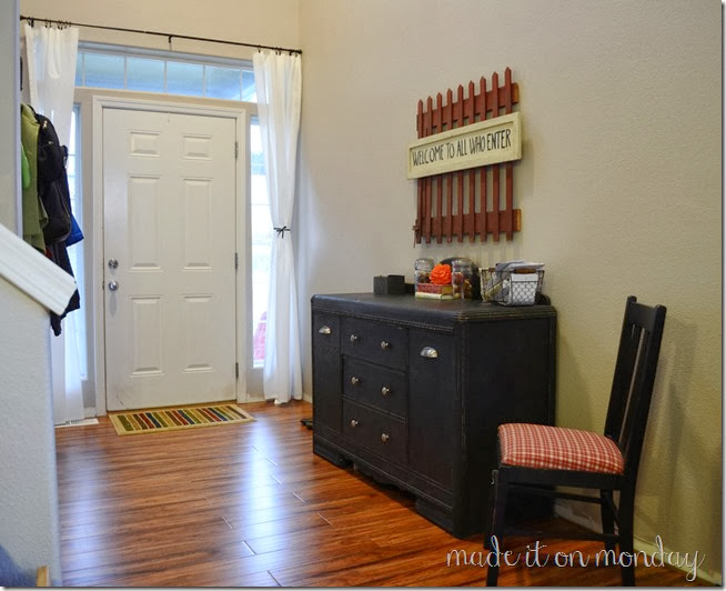Entry Way, Chalk Paint Buffet & Front Door Privacy