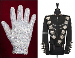 objetos do Michael Jackson
