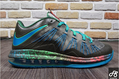 nike lebron 10 low gr black turquoise blue 3 05 Nike Air Max LeBron X Low Swamp Thing Release Date