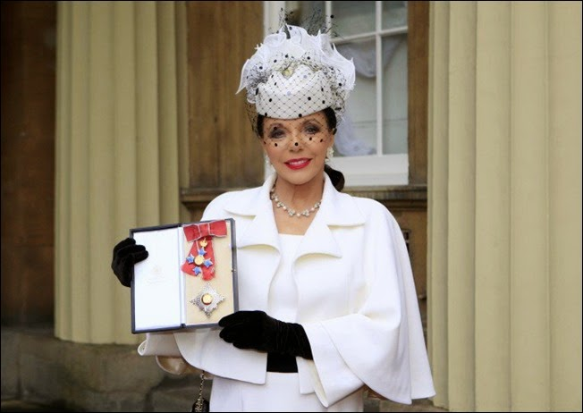 Dame Joan Collins received a Dameship
