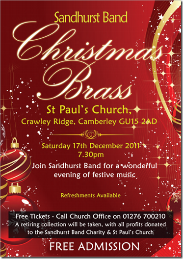 Sandhurst Band Christmas Brass at St Pauls Camberley