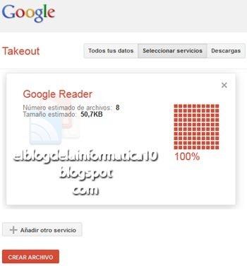 Exportar marcadores de Google Reader