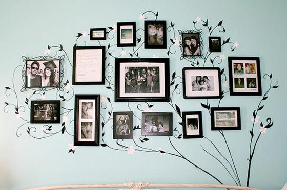 Decoração criativa com porta retratos! Foto: reprodução
