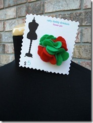 christmas flower pin