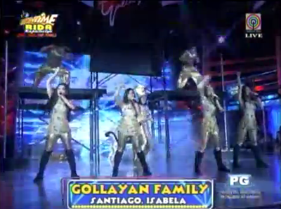 Gollayan Family in It's Showtime