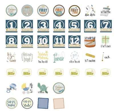 Baby Boy Calendar Stickers jpg