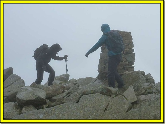 Windy on the summit of Carnedd Moel Siabod